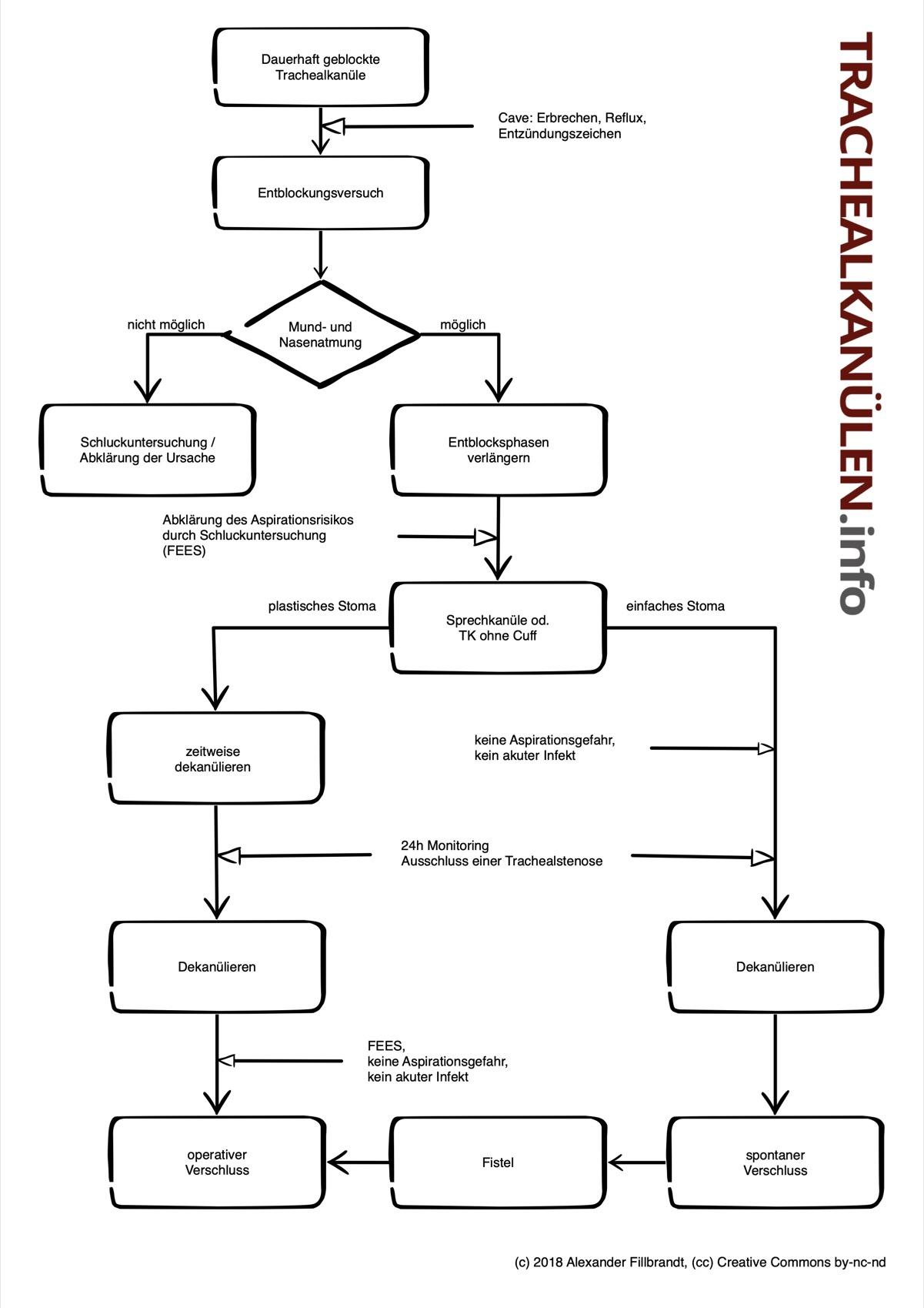 Ein Dekanülierungsschema.
